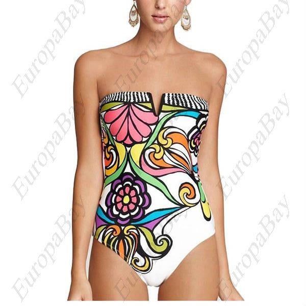 Summer Special Printing Sexy Backless Bra Gather, Swimdress, Swimdress, EuropaBay Limited