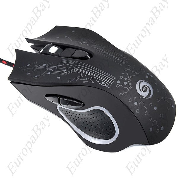 5500dpi Adjustable  6 Buttons Optical USB Wired LED Gaming Gamer Mouse for PC Laptop, Mouse, EuropaBay Limited