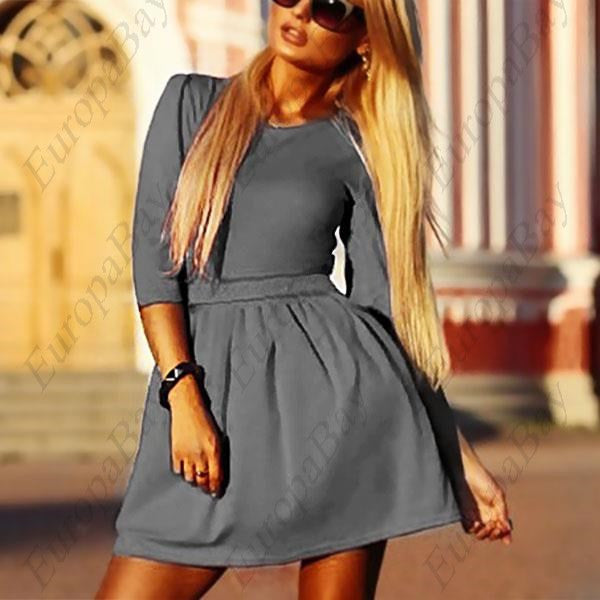 Fashion Women's 3/4 Sleeve Skirt Dress, Ladies Evening Party Mini Skater Dress + Free Worldwide Shipping - EuropaBay - 1