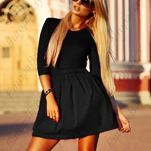 Fashion Women's 3/4 Sleeve Skirt Dress, Ladies Evening Party Mini Skater Dress, Dress, EuropaBay Limited