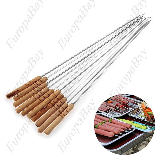 30Pcs Stainless Steel Barbecue Skewer with Wooden Stick + Free Worldwide Shipping - EuropaBay - 1