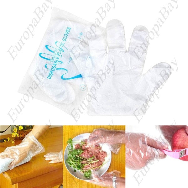 100pcs Eco-friendly Plastic Multifunctional Gloves, Disposable Plastic Gloves, EuropaBay Limited