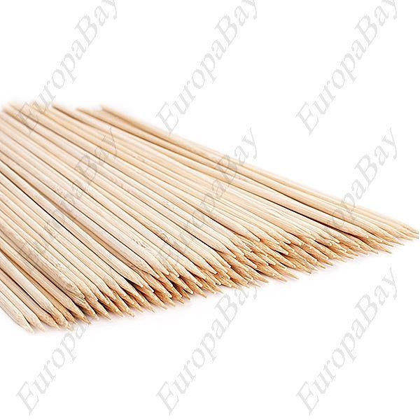 100pcs Bamboo Kebab Skewers for Barbecue, Bamboo BBQ Forks, EuropaBay Limited