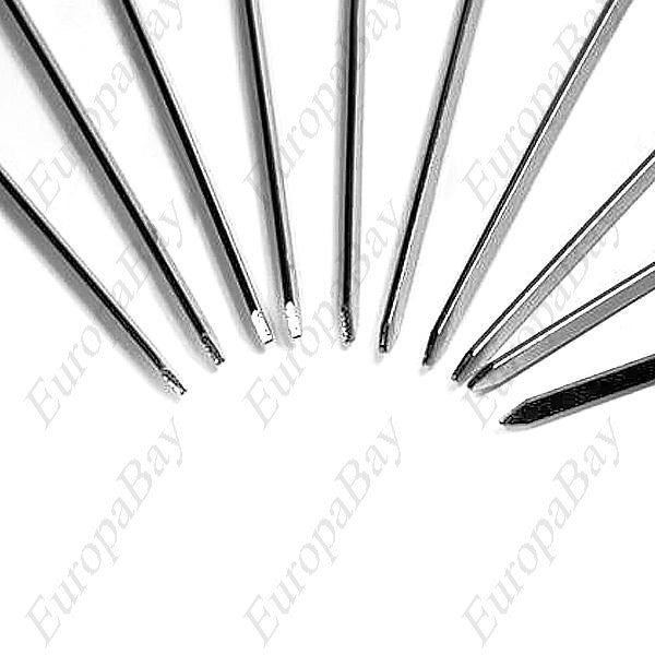 10pcs Environmental Stainless Steel Grilling Barbecue Skewer, Barbecue Skewers Needles, EuropaBay Limited