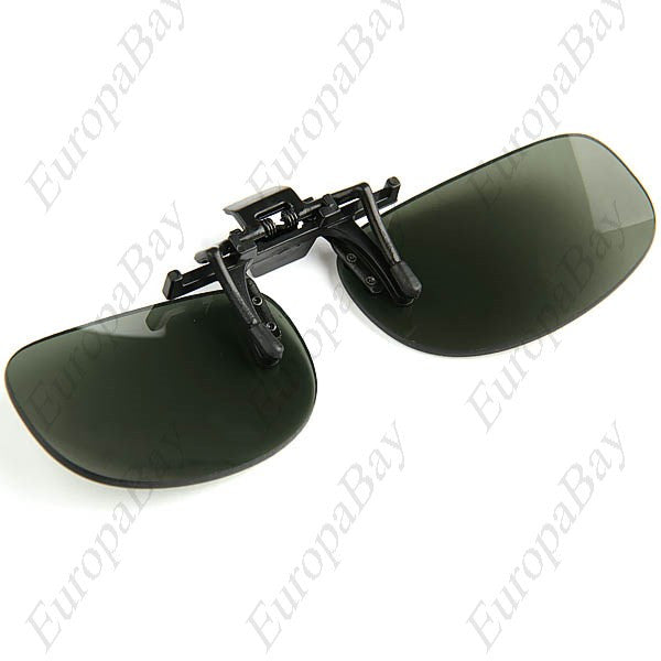Polarized Clip-on Flip-up Sun Clips, Lens for Sunglasses, Goggles Glasses, Myopic Lens - L + Eligible for Free Worldwide Shipping - EuropaBay - 1