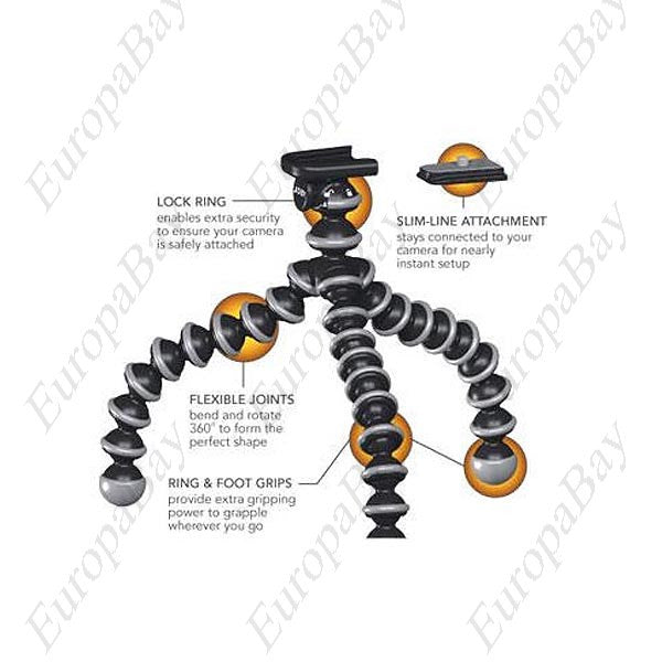 Flexible Portable Desktop Ball Leg Gripping Tripod for Digital Camera, Flexible Camera Tripod, EuropaBay Limited
