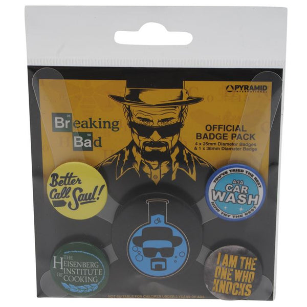 Breaking Bad - Breaking Bad Badge Pack, The Official Badge Set + Free Worldwide Shipping - EuropaBay
