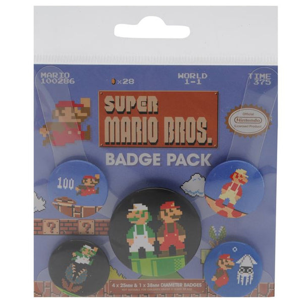 Super Mario Bros! Nintendo Badge Pack, The Official Nintendo Badge Set + Free Worldwide Shipping - EuropaBay