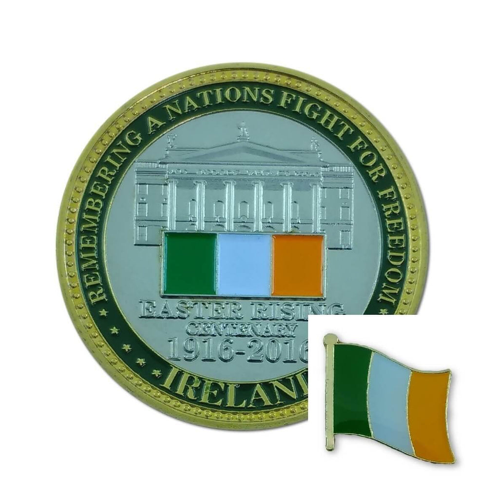 Souvenir, Centenary Coin + Display Capsule + Tri Colour Pin/Lapel
