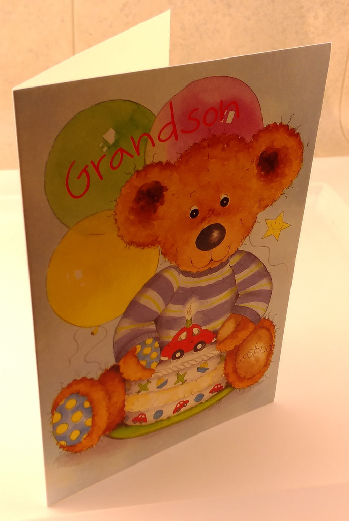 Grandsons Birthday, Happy Birthday, Designed By Camden Graphics., Greeting Cards & Invitations, EuropaBay Limited