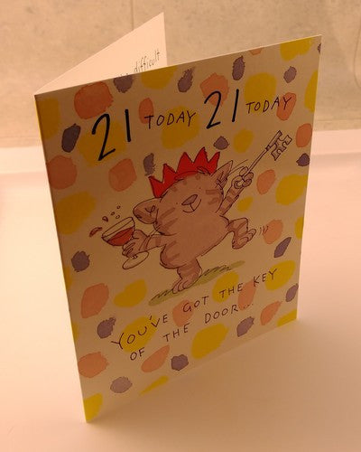 21st Birthday HAPPY CARDS MESSAGE Picture Inside High Quality by Camden Graphics - EuropaBay - 5