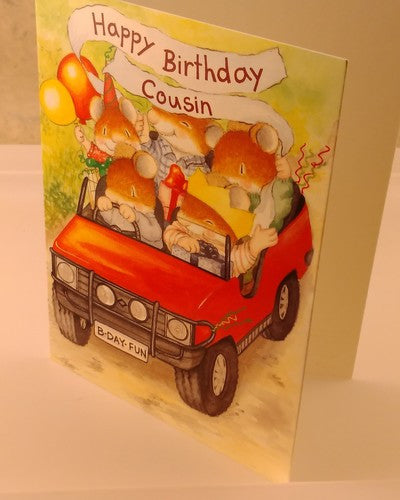 Cousins Birthday, Happy Birthday Card, Designed By Camden Graphics. - EuropaBay - 4