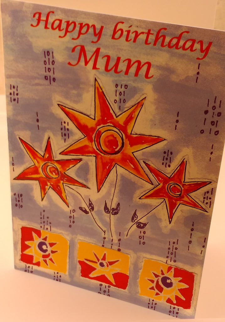 Happy Birthday Mum, Birthday Card, Designed By Saints & Scholar, Greeting Cards & Invitations, EuropaBay Limited