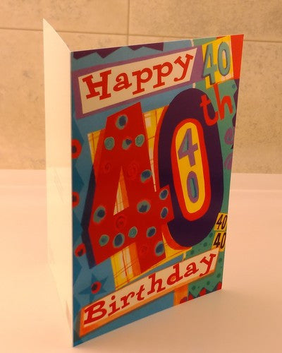 40th Birthday, Happy Birthday, Designed By Camden Graphics. - EuropaBay - 4