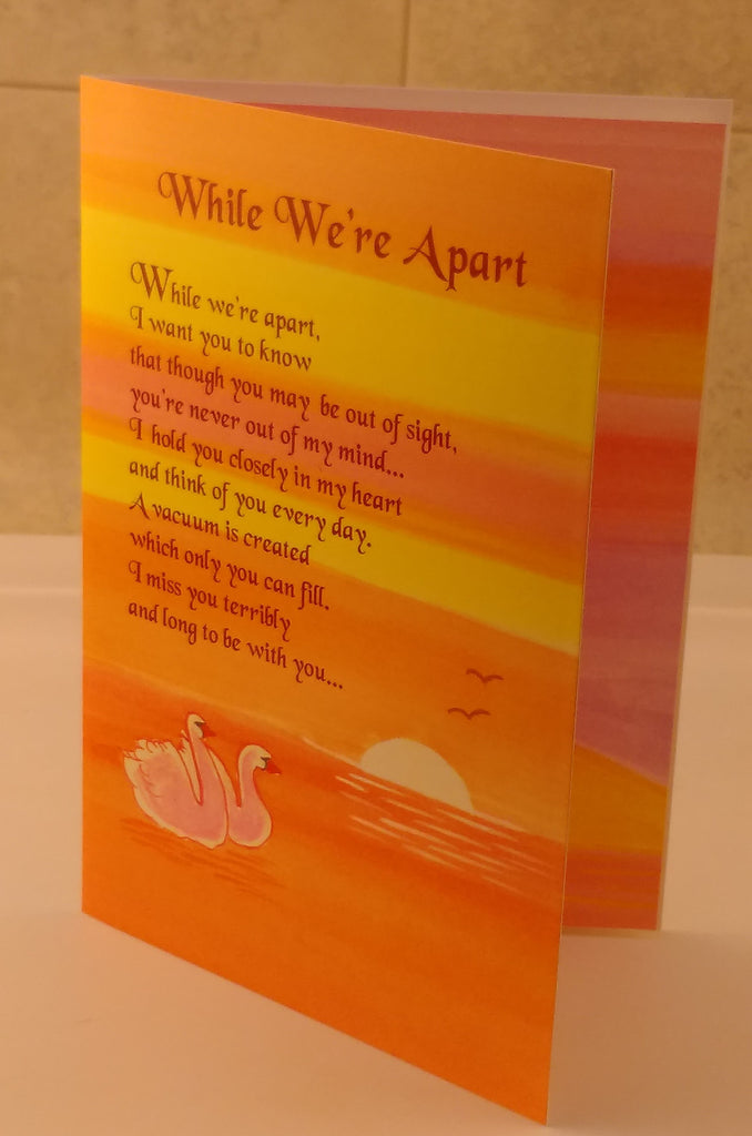 While we were apart, Designed By Sweet Sentiments, Greeting Cards & Invitations, EuropaBay Limited
