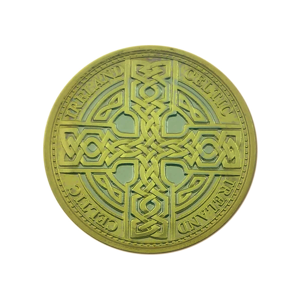 Special Collectors Edition in Display Capsule Celtic All Gold Cross Design
