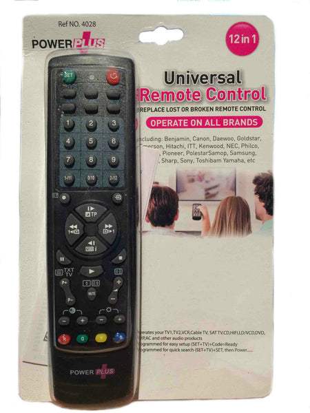 12 In 1 Universal Remote Control, TV, DVD, Satellite, Cable, AUX, and maore! Power Plus, New, Sealed + Eligible For Free Worldwide Shipping - EuropaBay