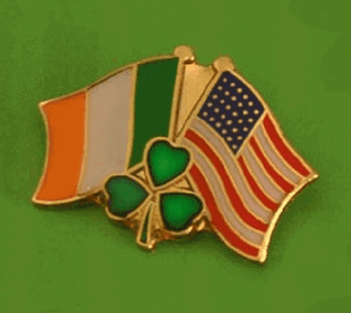 Ireland & USA Lapel, Pin Badge