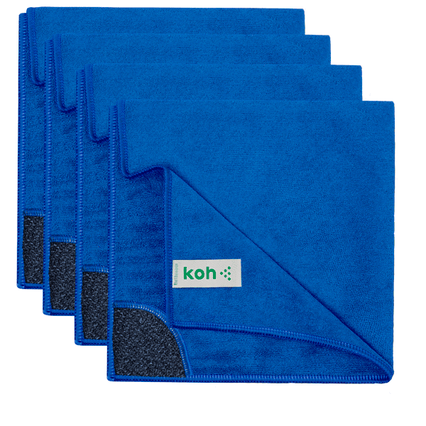 Koh® Premium Grade Microfibre Bathroom Cloth 4-PACK