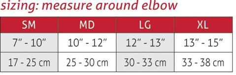 Products Mueller Elbow Sleeve Size Chart