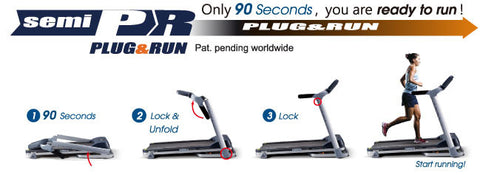 Plug and Run System BH Fitness treadmills