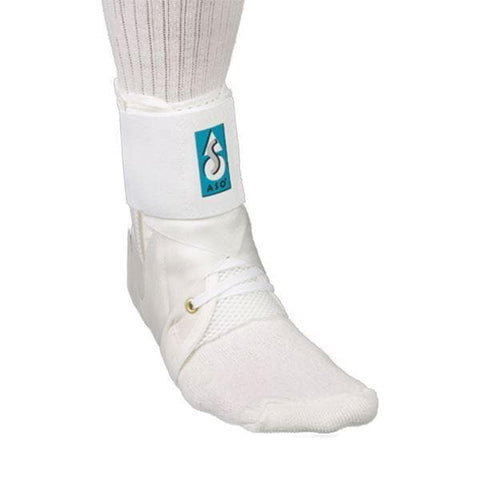ASO Ankle Brace White with Logo