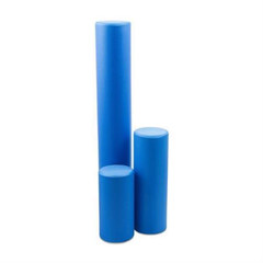 Foam rollers 3 sizes displayed