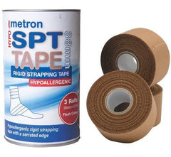 Metron Hypo Allergenic Acrylic Adhesive Tape, 38mm x 13.7m, 3 Rolls/Drum - Latex Free