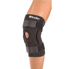 Mueller Hinged Knee Brace in use