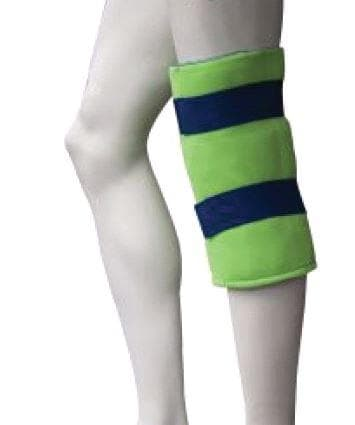 Polar ice knee wrap on leg