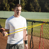 SKLZ Pro Bands product in use - Man pulling the band
