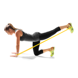 SKLZ Pro Bands Light product in use  - Woman stretching legs using band