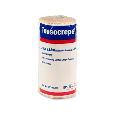 Tensocrepe Crepe Bandage, Heavy Weight, Unstretched, 10cm x 2.3m, Tan
