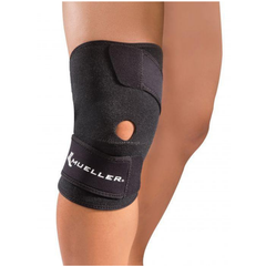 Mueller Wraparound Knee Support in use