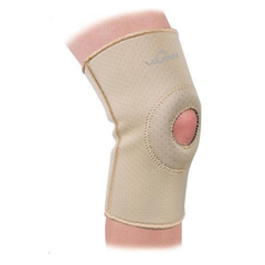 vulkan open knee stabiliser with wearer