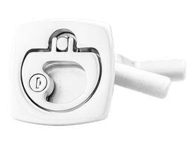 "GEM / GemLux Stainless Lift Handle Locking Latch - Square Face - 2.5"" - 1264-L-2"
