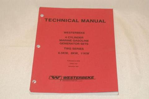 Westerbeke 34645 technical manual 4 cylinder 6.5, 8, 11 KW marine gas generator Books and Manuals part from MarineSurplus.com