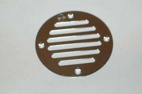Gem Products 2519 stainless steel deck drain vent cover GemLux scupper screen Deck and Cabin Hardware MarineSurplus.com