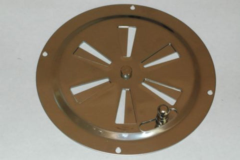 "Gem Products 775 Stainless steel 5"" round adjustable Gemlux butterfly vent Ventilation part from MarineSurplus.com"