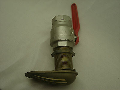 "Stainless Steel 1.5"" ball valve with brass intake strainer  B10"