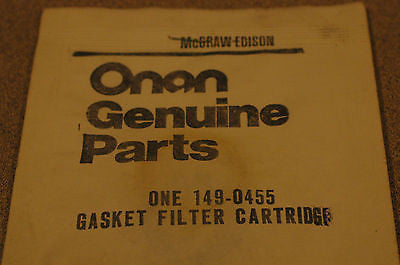 Onan 149-0455 gasket filter cartridge Gaskets/Seals part from MarineSurplus.com