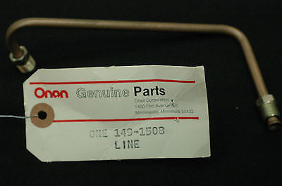 Onan 149-1508 Fuel Line metal B5