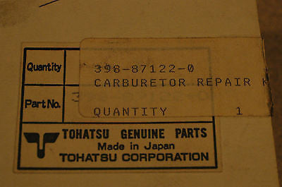 Tohatsu Nissan 398-87122-0 Carburator repair kit B18