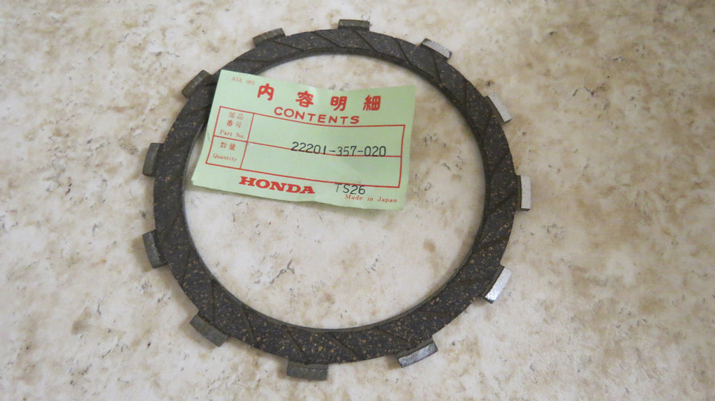 Honda 22201-357-020 clutch friction disk Motorcycle Parts part from MarineSurplus.com