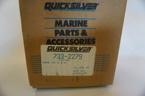 Genuine Mercury Mercruiser Quicksilver Piston - NOS - 733-2279 - 0.30 over