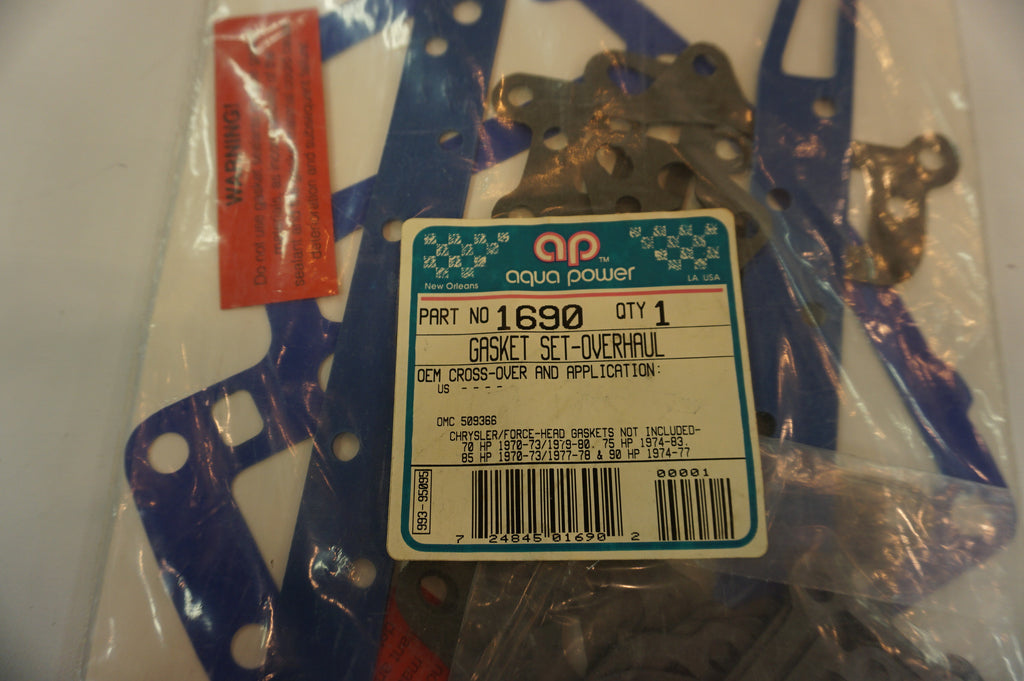 Aqua Power Marine - Overhaul Gasket Set - 1690 - 509366 - OMC Vintage Outboard