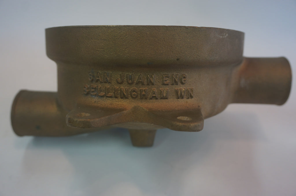 San Juan Engineering Raw Water Sea Strainer Housing - Model 114SS - Bronze