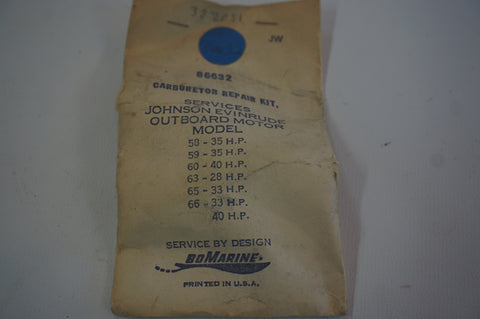 BoMarine Vintage Carburetor Repair Kit - 382051 - OMC Johnson Evinrude