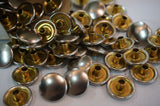 Perko Nickel Plated Brass Button Fasteners for Canvas - 896-000-NKL - QTY: 100