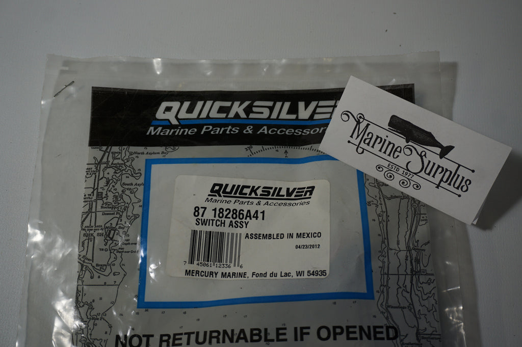 Genuine Mercury Marine Quicksilver - Switch Assembly - 87 18286A41